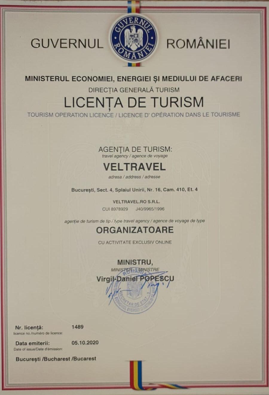 Contract cadru cu turistul - Direct Booking